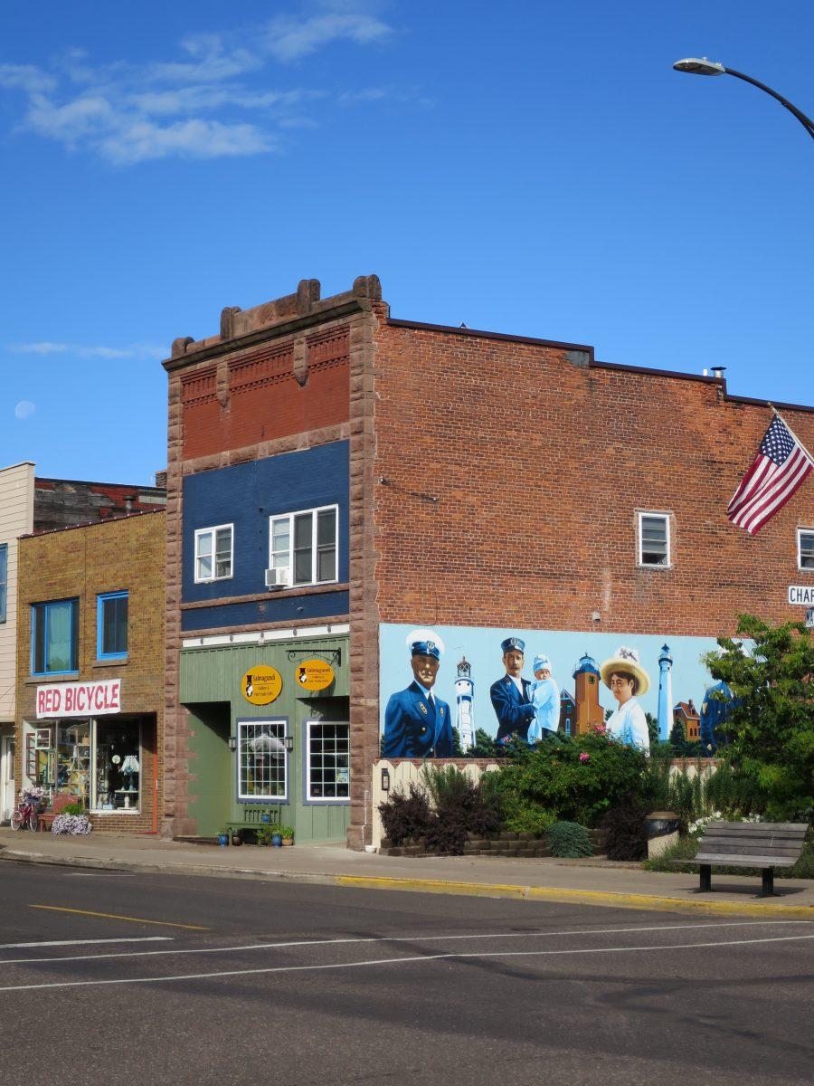 Port town mural